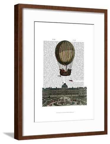 Airship Over City-Fab Funky-Framed Art Print