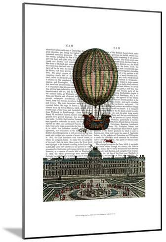 Airship Over City-Fab Funky-Mounted Art Print