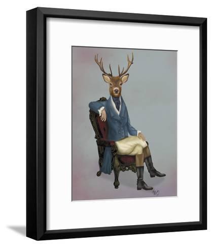 Distinguished Deer Full-Fab Funky-Framed Art Print