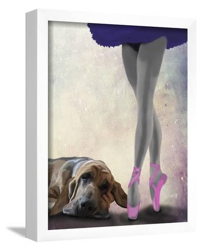 Bloodhound And Ballet Dancer-Fab Funky-Framed Art Print