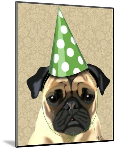 Party Pug-Fab Funky-Mounted Art Print