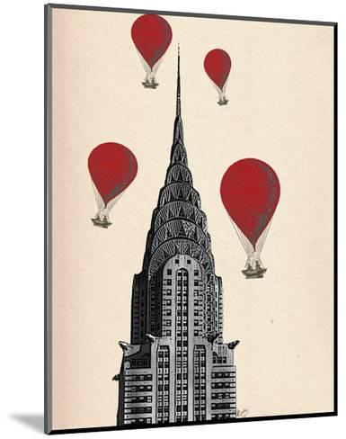Chrysler Building and Red Hot Air Balloons-Fab Funky-Mounted Art Print