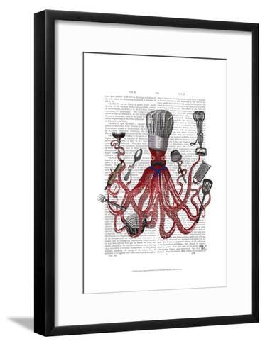 Octopus Fabulous French Chef-Fab Funky-Framed Art Print