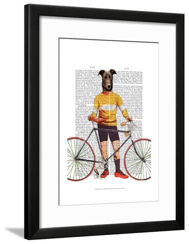 Greyhound Cyclist-Fab Funky-Framed Art Print