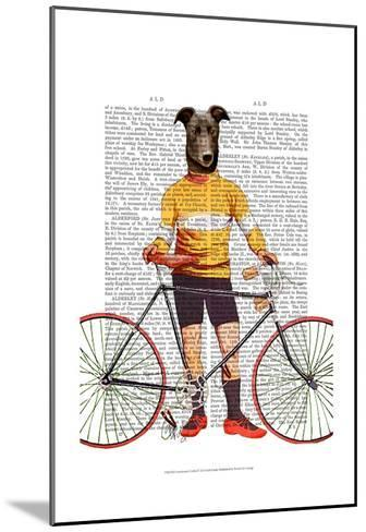 Greyhound Cyclist-Fab Funky-Mounted Art Print