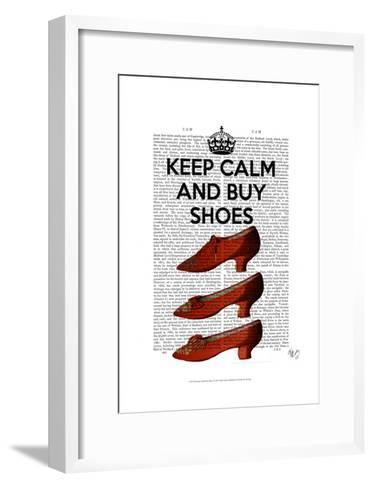 Keep Calm Buy Shoes-Fab Funky-Framed Art Print