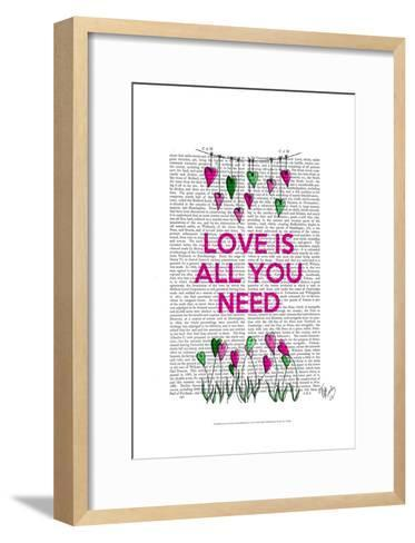 Love Is All You Need Illustration-Fab Funky-Framed Art Print