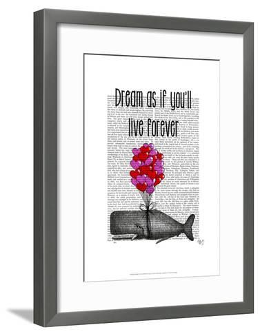 Dream As If You'll Live Forever-Fab Funky-Framed Art Print