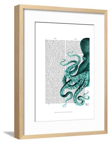 Octopus Green Half-Fab Funky-Framed Art Print