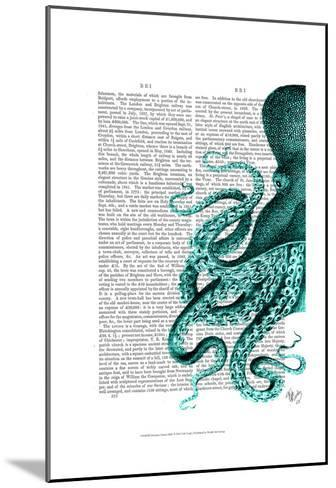Octopus Green Half-Fab Funky-Mounted Art Print