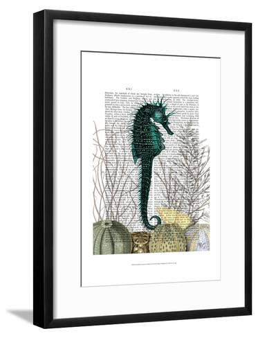 SeaHorse and Sea Urchins-Fab Funky-Framed Art Print