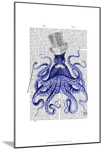 Octopus About Town-Fab Funky-Mounted Art Print
