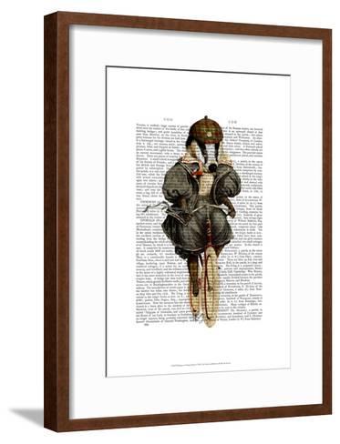Badger on Vintage Bicycle-Fab Funky-Framed Art Print