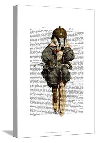 Badger on Vintage Bicycle-Fab Funky-Stretched Canvas Print
