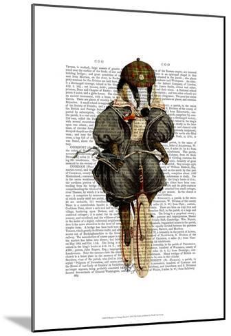 Badger on Vintage Bicycle-Fab Funky-Mounted Art Print