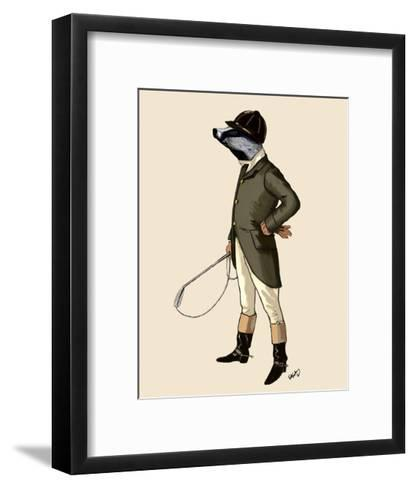 Badger The Rider Full-Fab Funky-Framed Art Print