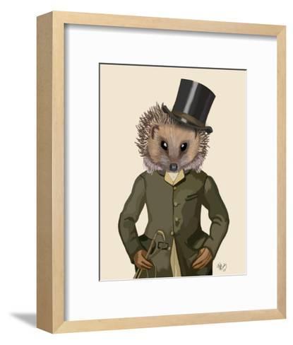 Hedgehog Rider Portrait-Fab Funky-Framed Art Print