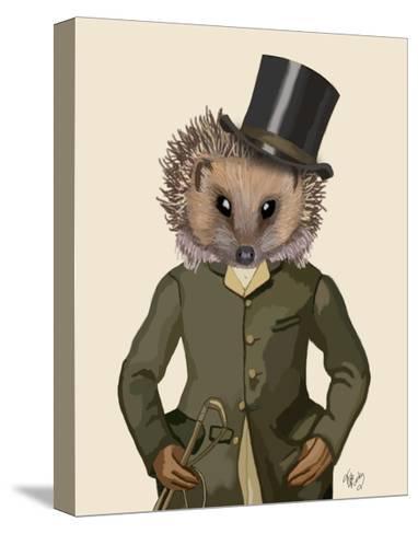 Hedgehog Rider Portrait-Fab Funky-Stretched Canvas Print