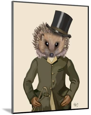 Hedgehog Rider Portrait-Fab Funky-Mounted Art Print