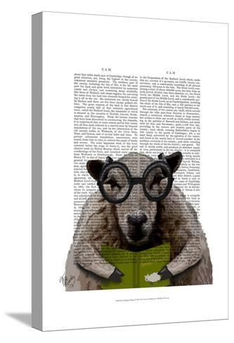 Intelligent Sheep-Fab Funky-Stretched Canvas Print