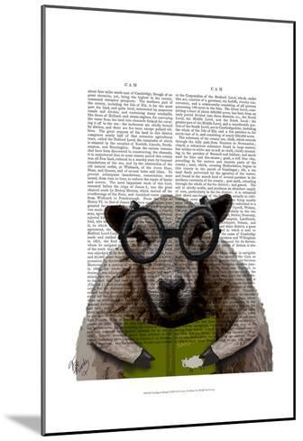 Intelligent Sheep-Fab Funky-Mounted Art Print