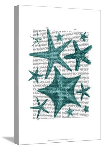 Green Starfish Collection-Fab Funky-Stretched Canvas Print