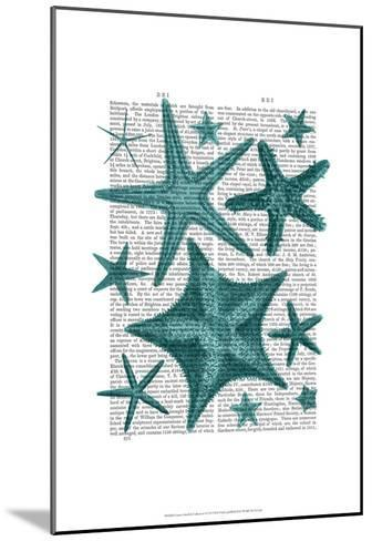 Green Starfish Collection-Fab Funky-Mounted Art Print