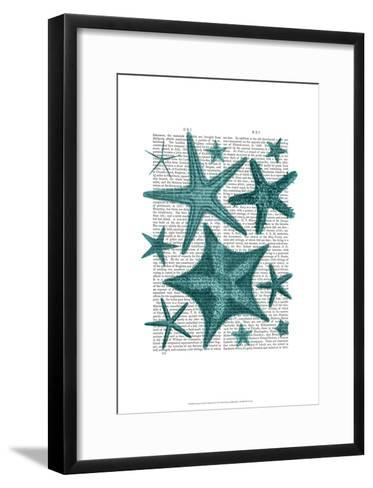 Green Starfish Collection-Fab Funky-Framed Art Print
