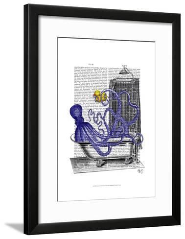 Octopus in Bath-Fab Funky-Framed Art Print