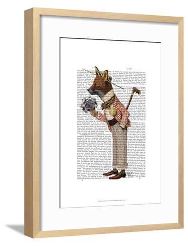Fox in Boater-Fab Funky-Framed Art Print