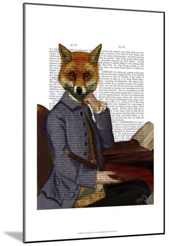 Fox With Flute-Fab Funky-Mounted Art Print