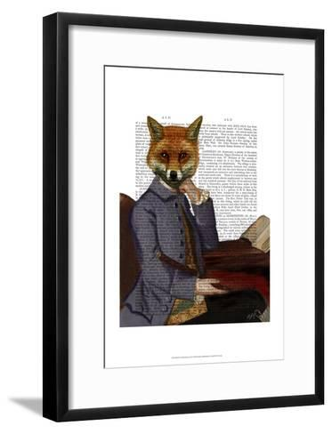 Fox With Flute-Fab Funky-Framed Art Print
