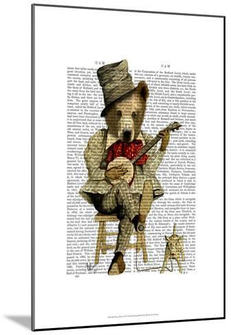 Banjo Bear-Fab Funky-Mounted Art Print