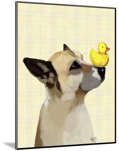 Dog and Duck-Fab Funky-Mounted Art Print