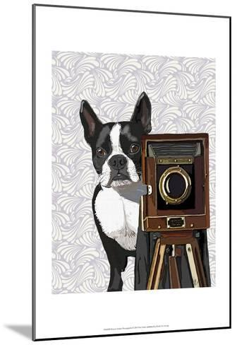 Boston Terrier Photographer-Fab Funky-Mounted Art Print