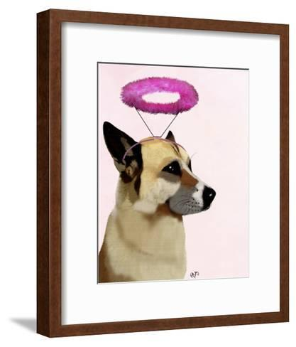 Dog with Pink Halo-Fab Funky-Framed Art Print