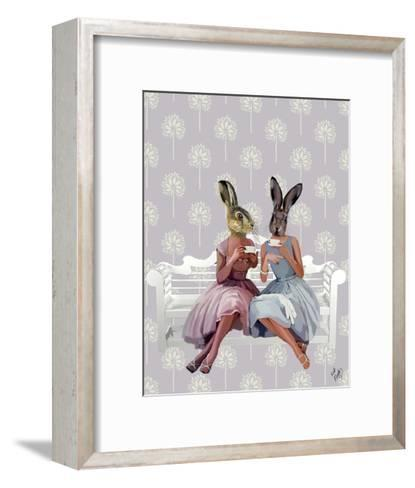 Rabbit Chat-Fab Funky-Framed Art Print