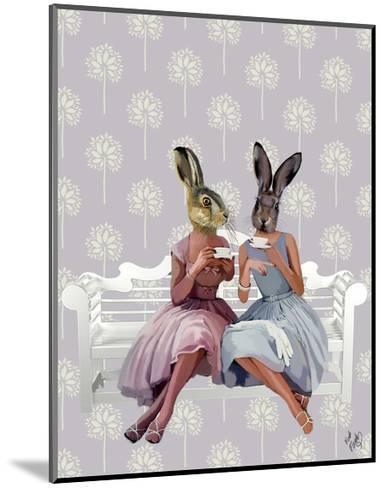 Rabbit Chat-Fab Funky-Mounted Art Print