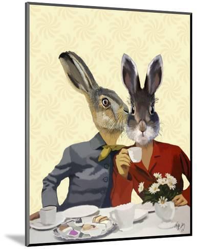 Ladies Gossiping-Fab Funky-Mounted Art Print