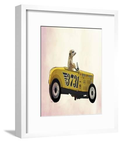 Meerkat in Hot Rod-Fab Funky-Framed Art Print