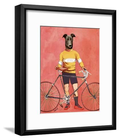 Greyhound Cyclist-Fab Funky-Framed Art Print
