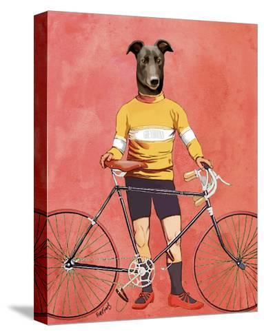 Greyhound Cyclist-Fab Funky-Stretched Canvas Print