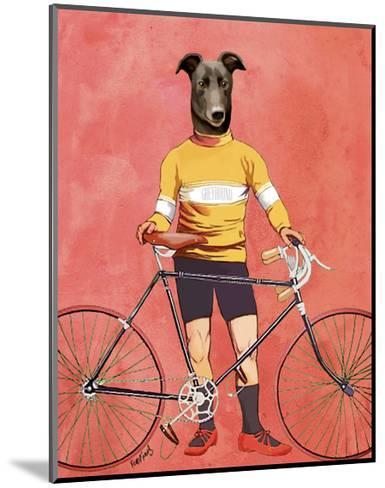 Greyhound Cyclist-Fab Funky-Mounted Art Print