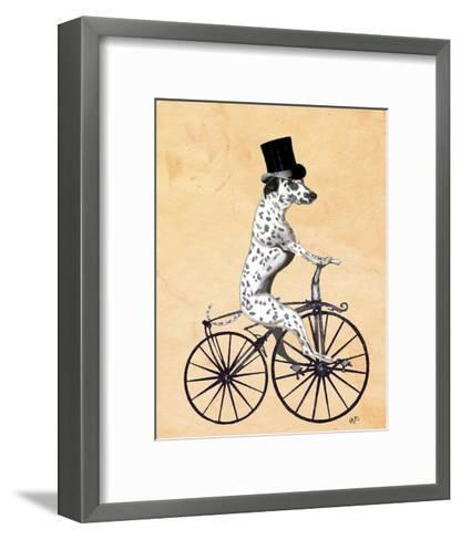 Dalmatian On Bicycle-Fab Funky-Framed Art Print
