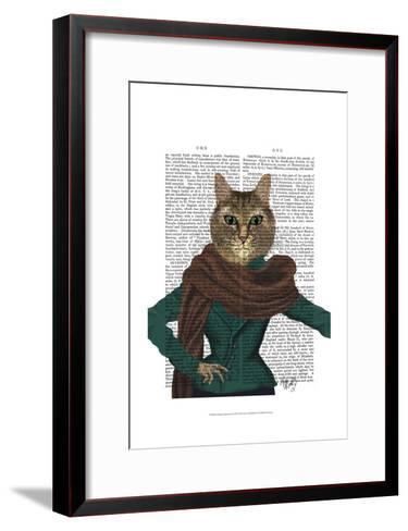 Feline Fashionista-Fab Funky-Framed Art Print