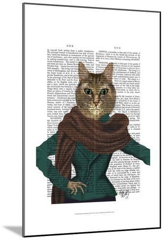 Feline Fashionista-Fab Funky-Mounted Art Print