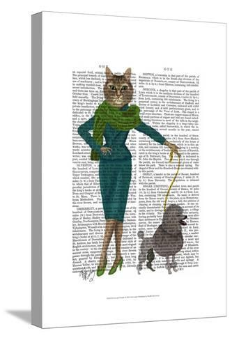 Cat and Poodle-Fab Funky-Stretched Canvas Print
