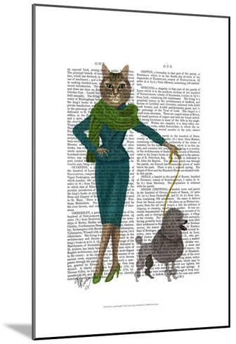 Cat and Poodle-Fab Funky-Mounted Art Print