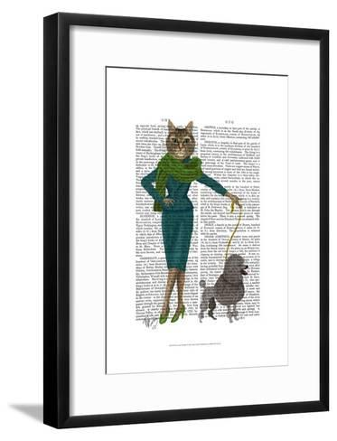 Cat and Poodle-Fab Funky-Framed Art Print