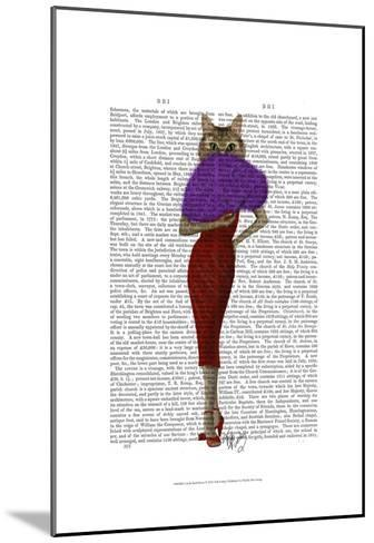 Cat In Red Dress-Fab Funky-Mounted Art Print